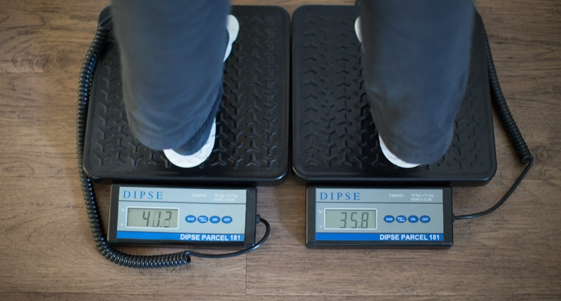Gewichtsverteilung zu Diagnostik in der Chiropraxis Landmann bei Hamburg