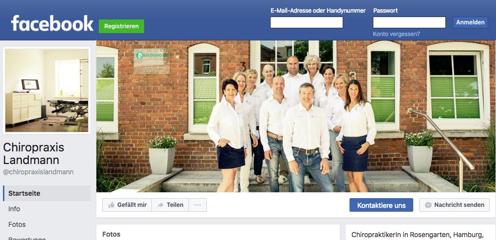 Chiropraktik Landmann auf Facebook
